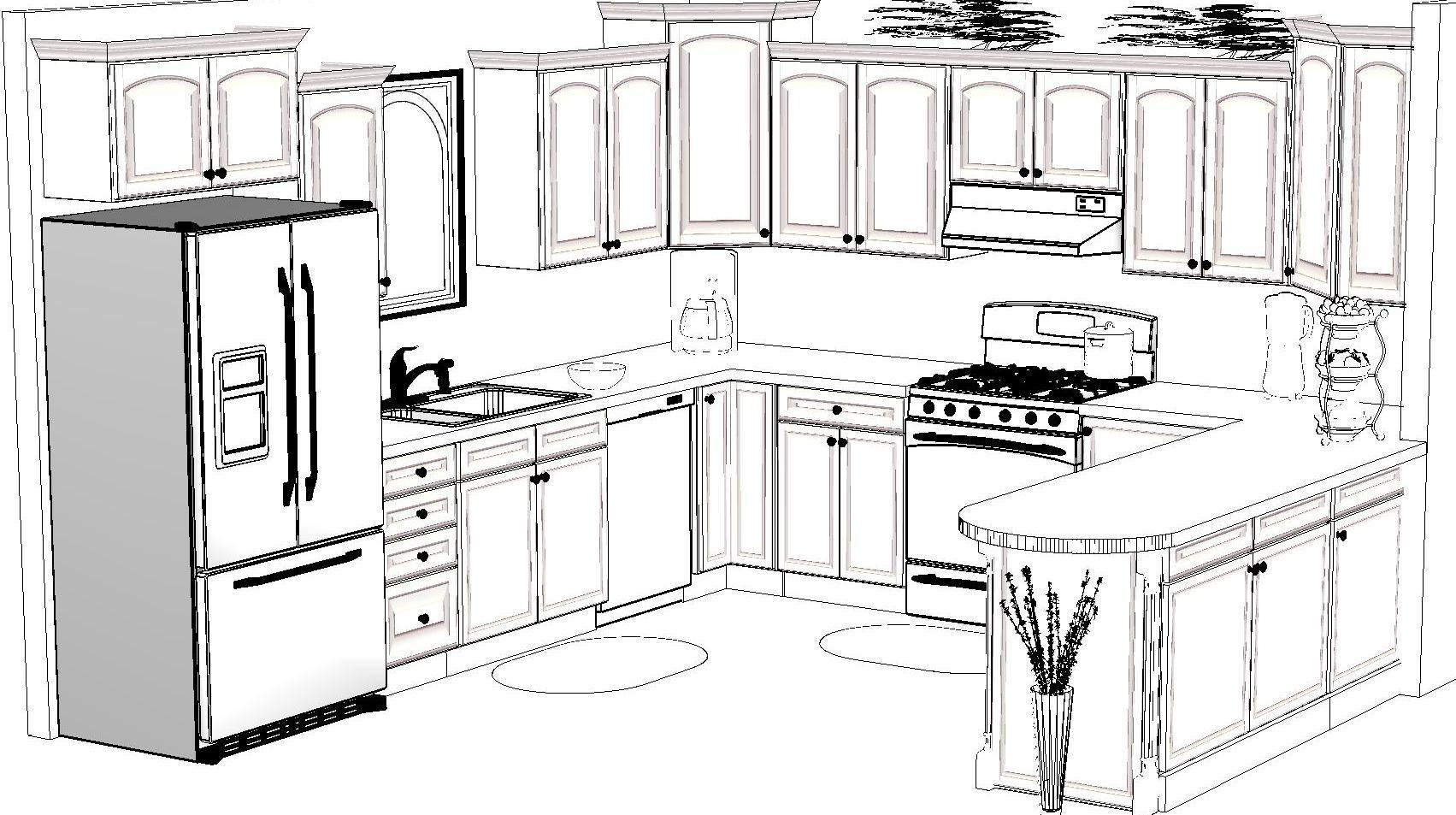 Рисунок для кухни карандашом