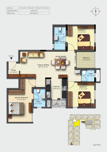 Adroit Fortune - 3 BHK