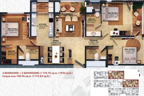 3bhk - 1935 sq.ft