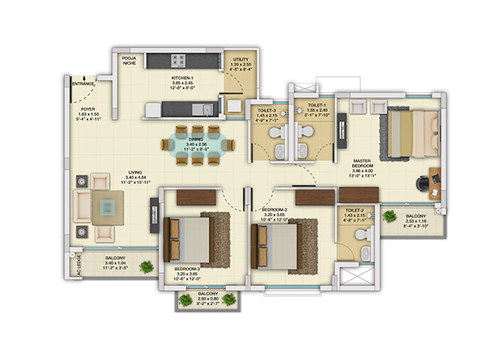 Tata Value Homes Santorini 3BHK