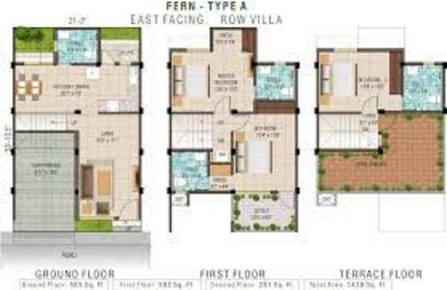 Alliance Humming Garden 3BHK Type A East Facing Row Villa