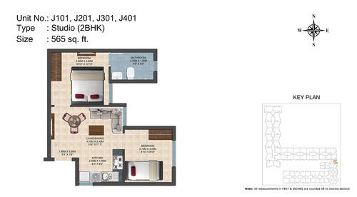 J101, J201, J301, J401(2BHK)
