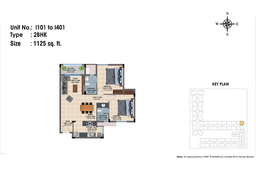 1101 to 1401(2BHK)
