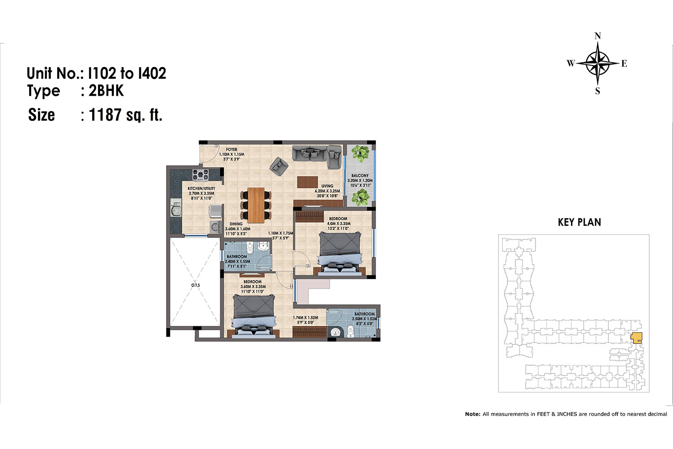 1102 to 1402(2BHK)
