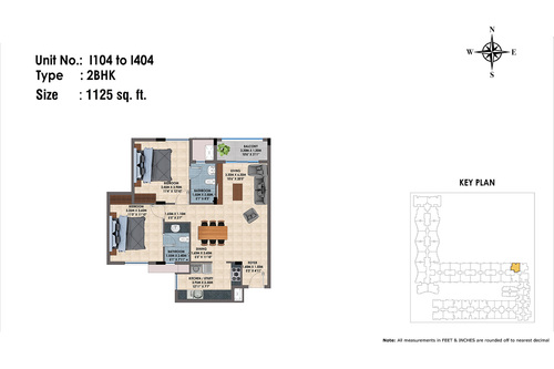 1104 to 1404(2BHK)