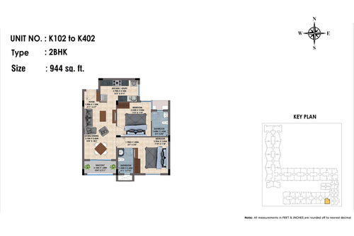 K102 to K402(2BHK)