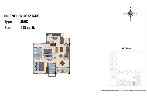K103 to K403(2BHK)