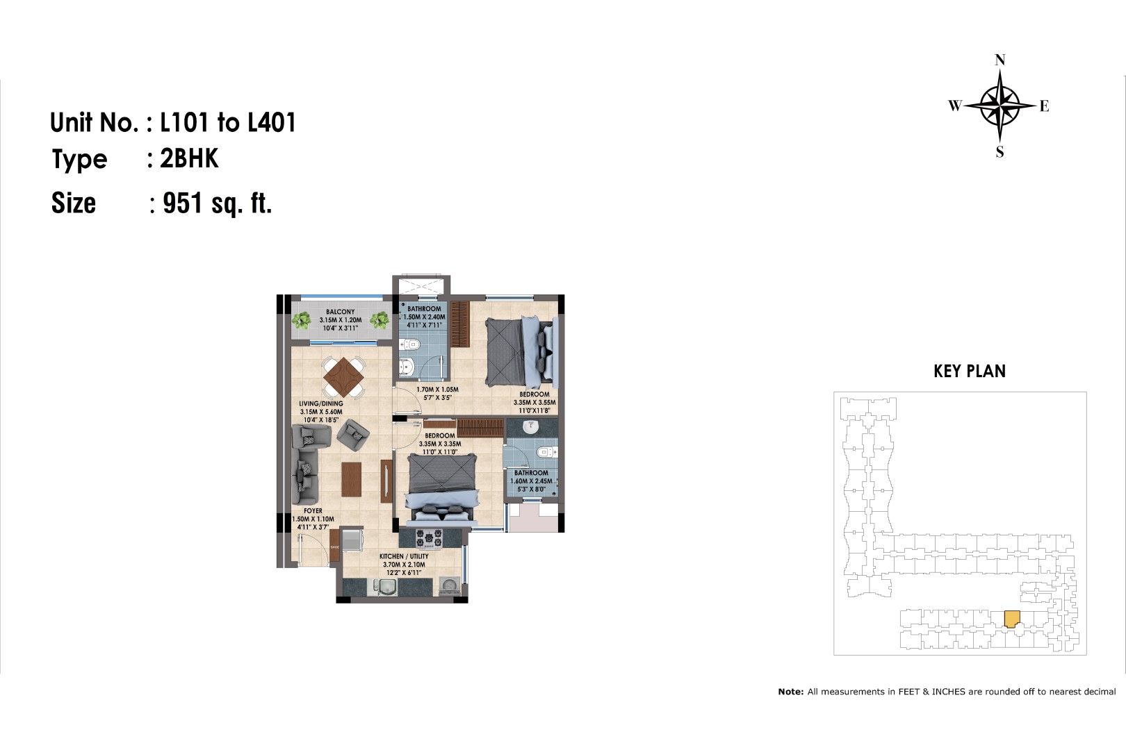 L101 to 401(2BHK)