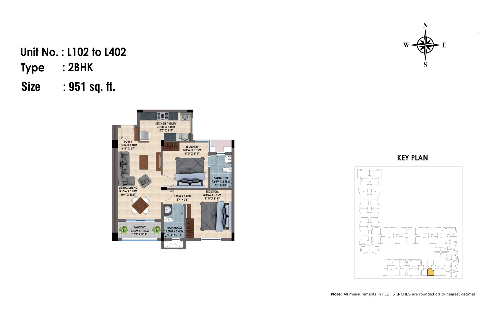 L102 to 402(2BHK)