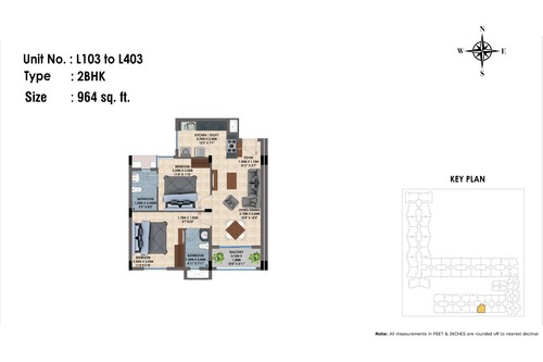 L103 to 403(2BHK)