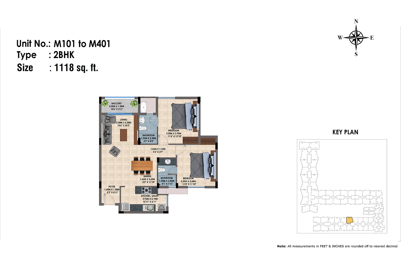 M101 to 401(2BHK)