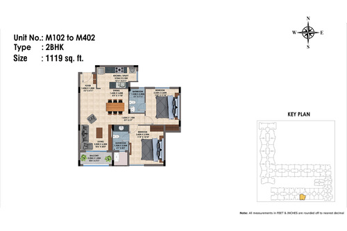 M102 to 402(2BHK)