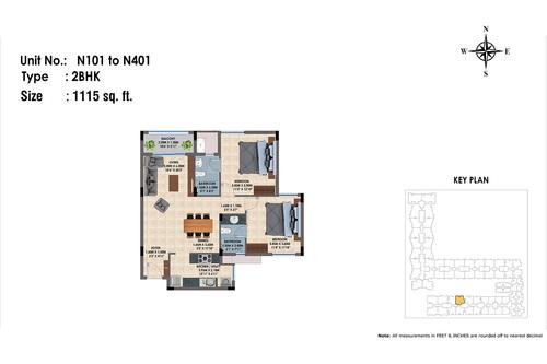 N101 to 401(2BHK)