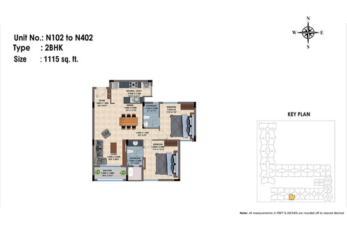 N102 to 402(2BHK)