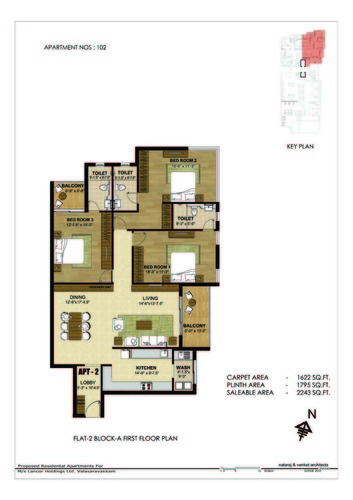 3BHK - Block A 3 BHK Type 3
