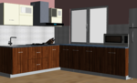 Earthly L-Modular Kitchen - Design 1