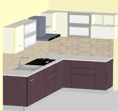 Spacio Modern L-Modular Kitchen