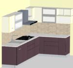 Spacio Modern L-Modular Kitchen - Design 1