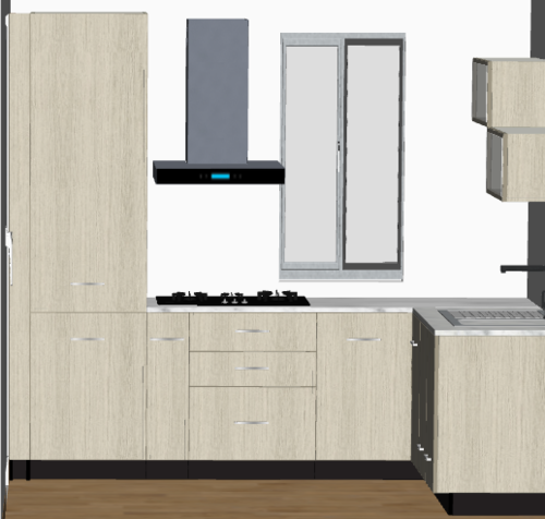 Lightwood L-Modular Kitchen