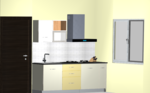 Minimal Straight Modular Kitchen - Design 1
