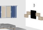 Standalone Light Color Wooden Wardrobe  - Design 2