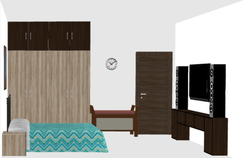 Basic Wooden Wardrobe without Loft