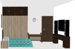 Basic Wooden Wardrobe without Loft - Design 1