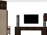 Basic Wooden Wardrobe without Loft - Design 2