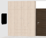 E,F,G,H,O 101 to 401(3BHK) - Design 4