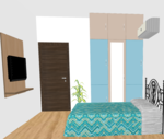 F,G,H 104 to 404 & O 204 to 404(3BHK) - Design 1