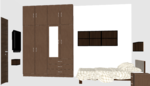 F,G,H 104 to 404 & O 204 to 404(3BHK) - Design 3
