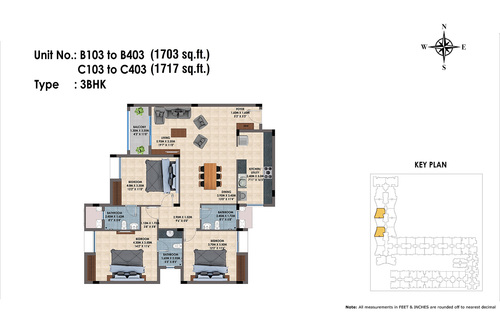 B103 to B403, C103 to C403(3BHK)