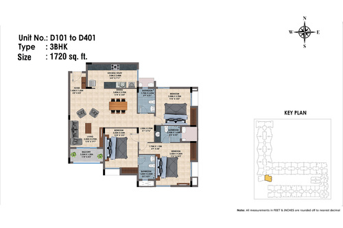 D101 to D401(3BHK)