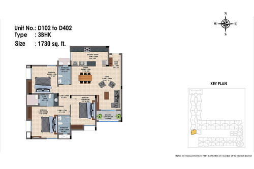D102 to D402(3BHK)
