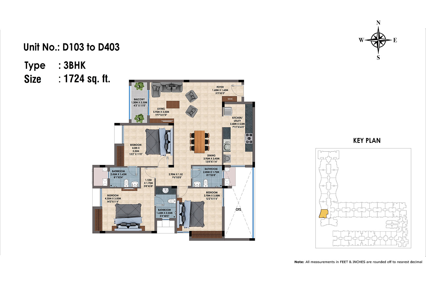 D103 to D403(3BHK)