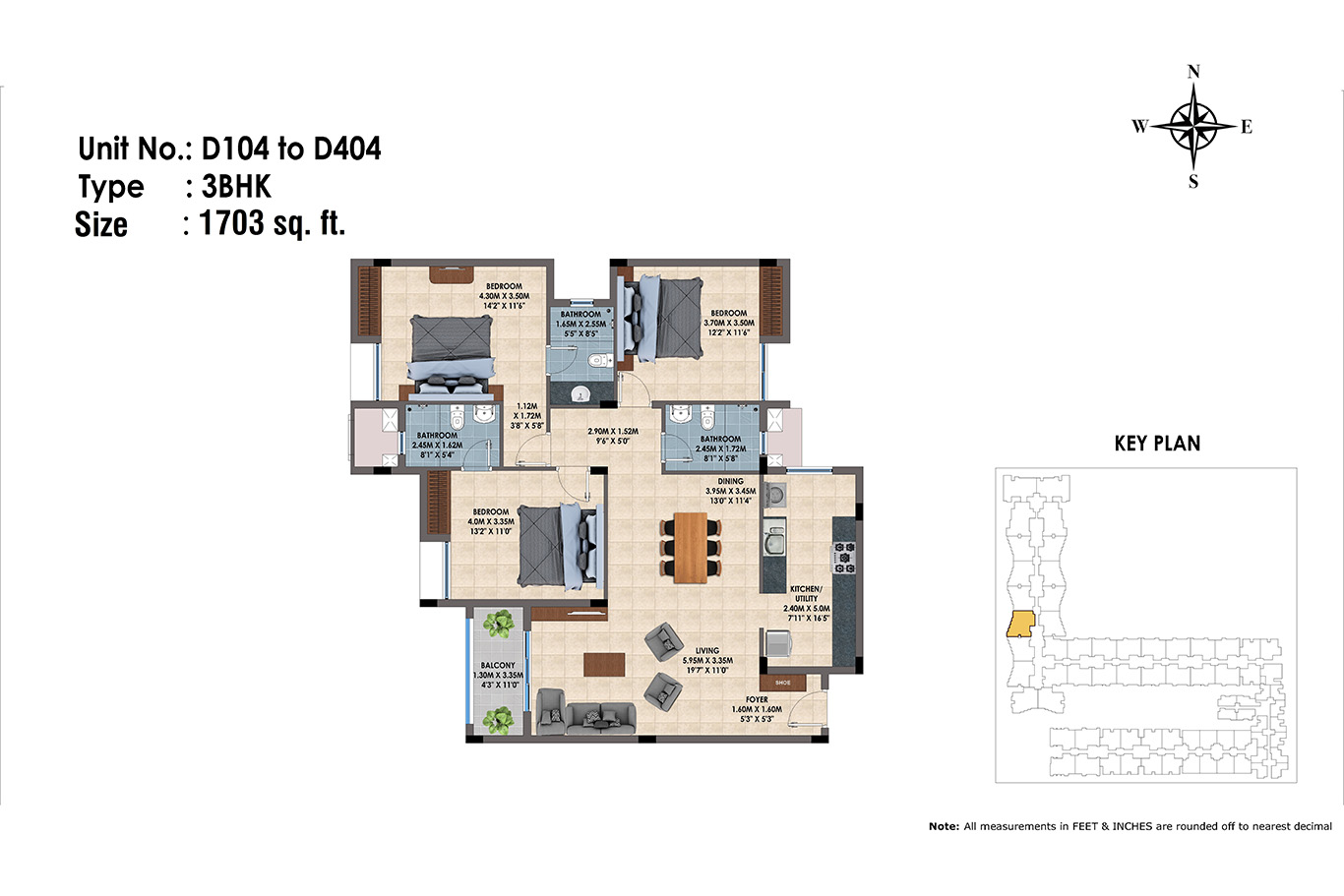 D104 to D404(3BHK)