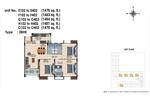 E,F,G,H,O 102 to 402(3BHK) - Design 8