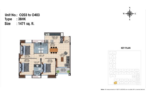 O203 to 403(3BHK)