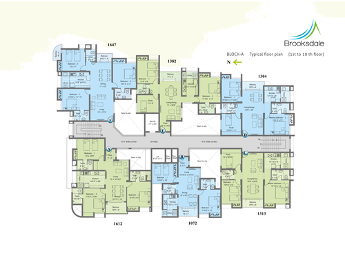 3BHK - Block A Type A