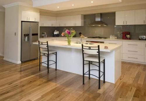 Island Modular Kitchen with L counter - Design 1