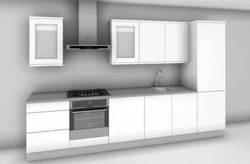 Modular kitchen designs in chennai zenterior for Small straight line kitchen designs