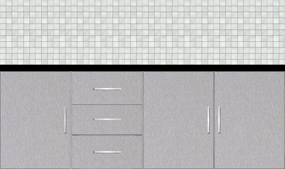 Modular Design Kitchen Floor Cabinet 7ft - 49790_sf