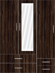 3 door wardrobe  - Design 2