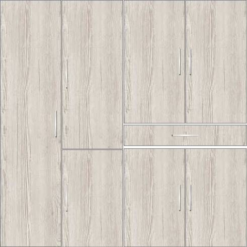 4 door wardrobe with external drawers | Doredos Pine