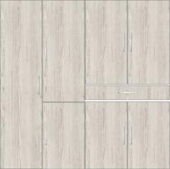 4 door wardrobe with external drawers | Doredos Pine - Design 2