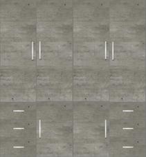 4 Door Wardrobe Design with external drawers| Trellis Elegant and Grey Granite - Design 1