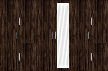 6 Door Wardrobe with mirror - Design 2