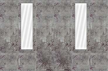 6 Door Wardrobe Design with mirrors |Rock Laminate - Design 2