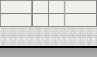 Modular Kitchen Wall Cabinet| Columbian Horizontal Walnut - Design 1