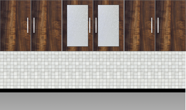 Modular Kitchen Wall Cabinet| Columbian Horizontal Walnut